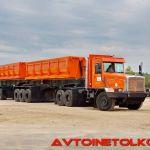 Новый самосвал Тонар 45252—95405: вес 116 тонн взят