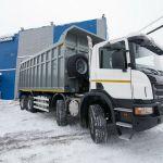 В Кузбассе отгружен самосвал-углевоз Scania P440 с объемом кузова 31 кубометр