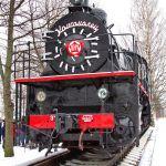 Памятник паровозу Эш-4375 на станции Ладожское Озеро