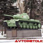 КВ-85 на постаменте— памятник танку-победителю в Автово