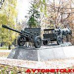 Памятник «По дорогам войны» в парке Победы