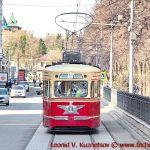 Московские ретро трамваина параде 2018 года