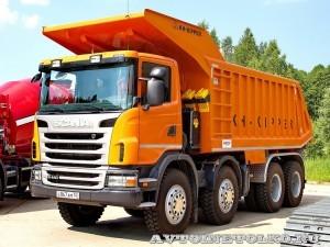 Карьерный самосвал Scania на тест-драйве строительной техники Scania RoadShow 2013