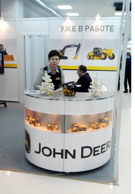 John Deere на выставке Дороги Карелии 2013 стенд