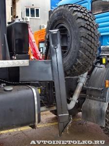 Новый автогидроподъемник Socage T 322 производства Чайка Сервис на шасси КамАЗ опоры