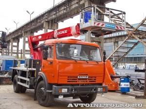 Новый автогидроподъемник Socage T 322 производства Чайка Сервис на шасси КамАЗ 43253
