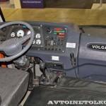 Автобус Волжанин Ритмикс с газовым двигателем на выставке COMTRANS 13 кабина водителя