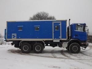 Ремонтная мастерская Рускомтранс на шасси Scania справа