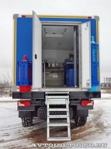 Ремонтная мастерская Рускомтранс на шасси Scania сзади