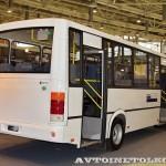 Автобус ПАЗ 320412 Вектор с газовым двигателем на выставке GasSuf 2013 сзади