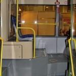 Городской низкопольный автобус ЛиАЗ 5292 с газовым двигателем на выставке GasSuf 2013 задняя площадка
