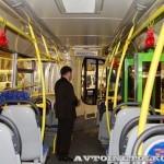 Городской низкопольный автобус ЛиАЗ 5292 с газовым двигателем на выставке GasSuf 2013 салон