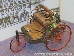 Масштабная модель первого автомобиля Карла Бенца из коллекции Политехнического музея