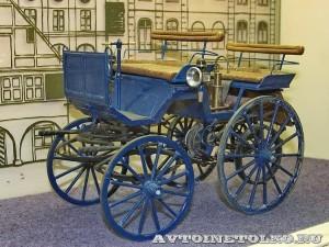 Масштабная модель первого автомобиля Готлиба Даймлера из коллекции Политехнического музея