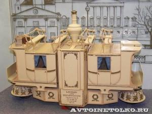 Масштабная модель парового омнибуса Вильяма Черча из коллекции Политехнического музея