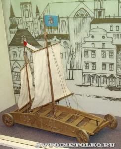 Масштабная модель дорожного корабля Симона Стевена из коллекции Политехнического музея