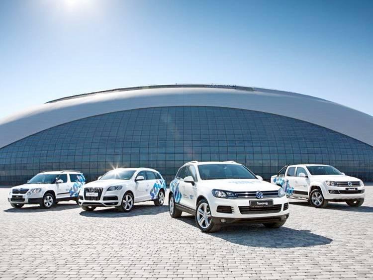Автомобили Volkswagen для автопарка зимней Олимпиады в Сочи