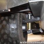 Прицеп на шинах низкого давления Авторос на выставке Вездеход 2013 подвеска