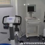 передвижной лечебно-диагностический комплекс Спортивная медицина в фургоне Купава на выставке Здравоохранение 2013 тренажеры