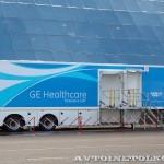 Мобильный пункт магниторезонансной томографии для Олимпиады в Сочи 2014 НПО Мобильные клиники на выставке Здравоохранение 2013 справа