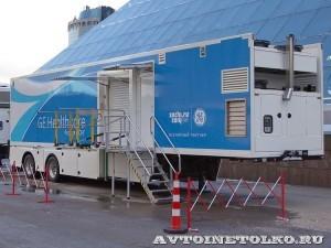 Мобильный пункт магниторезонансной томографии для Олимпиады в Сочи 2014 НПО Мобильные клиники на выставке Здравоохранение 2013