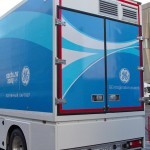 Мобильный пункт магниторезонансной томографии для Олимпиады в Сочи 2014 НПО Мобильные клиники на выставке Здравоохранение 2013 сзади