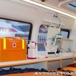 Автомобиль скорой медицинской помощи класс А Соболь 4х4 Промышленные Технологии на выставке Здравоохранение 2013 салон слева
