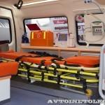 Автомобиль скорой медицинской помощи класс А Соболь 4х4 Промышленные Технологии на выставке Здравоохранение 2013 салон