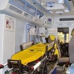 Реанимобиль класс C Volkswagen Crafter Сикар на выставке Здравоохранение 2013 салон слева