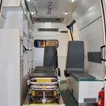 Автомобиль скорой медицинской помощи класс B IVECO Daily CNG СТ Нижегородец на выставке Здравоохранение 2013 салон справа