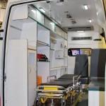Автомобиль скорой медицинской помощи класс B IVECO Daily CNG СТ Нижегородец на выставке Здравоохранение 2013 салон слева