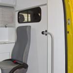 Автомобиль скорой медицинской помощи класс B Renault Master СТ Нижегородец на выставке Здравоохранение 2013 перегородка