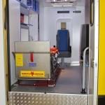 Модульный реанимобиль Ford Transit СТ Нижегородец на выставке Здравоохранение 2013 салон слева