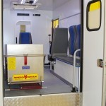 Модульный реанимобиль Ford Transit СТ Нижегородец на выставке Здравоохранение 2013 салон справа