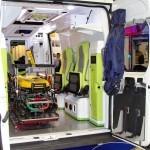 Реанимобиль класс C Peugeot Boxer НиАЗ на выставке Здравоохранение 2013 салон справа