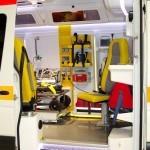 Реанимобиль класс C Volkswagen Crafter НиАЗ на выставке Здравоохранение 2013 вход