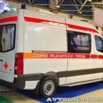 Реанимобиль класс C Volkswagen Crafter НиАЗ на выставке Здравоохранение 2013 сзади