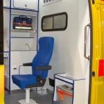 Автомобиль скорой медицинской помощи класс B FIAT Ducato Луидор на выставке Здравоохранение 2013 перегородка