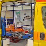 Автомобиль скорой медицинской помощи класс B FIAT Ducato Луидор на выставке Здравоохранение 2013 вход
