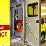 Модульный реанимобиль ГАЗель NEXT Промышленные Технологии на выставке Здравоохранение 2013 боковая дверь