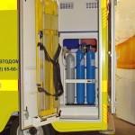 Модульный реанимобиль Ford Transit ООО Автодом на выставке Здравоохранение 2013 баллоны