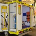 Модульный реанимобиль Ford Transit ООО Автодом на выставке Здравоохранение 2013 задние двери