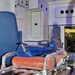 Модульный реанимобиль Ford Transit ООО Автодом на выставке Здравоохранение 2013 носилки