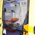 Автомобиль скорой медицинской помощи класс B Peugeot Boxer ООО Автодом на выставке Здравоохранение 2013 вход