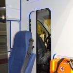 Автомобиль скорой медицинской помощи класс B Peugeot Boxer ООО Автодом на выставке Здравоохранение 2013 перегородка