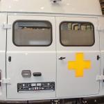 Автомобиль скорой медицинской помощи класс B УАЗ 39623 ООО Автодом на выставке Здравоохранение 2013 сзади