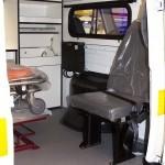 Автомобиль скорой медицинской помощи класс B УАЗ 39623 ООО Автодом на выставке Здравоохранение 2013 перегородка