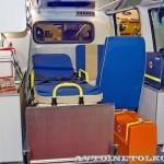 Автомобиль скорой медицинской помощи класс А Citroen Jumpy Промышленные Технологии на выставке Здравоохранение 2013 салон справа