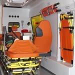 Автомобиль скорой медицинской помощи класс B Ford Transit Промышленные Технологии на выставке Здравоохранение 2013 салон справа