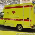 Модульный реанимобиль Ford Transit ООО Автодом на выставке Здравоохранение 2013 сзади
